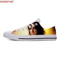 Men's Casual Shoes Alice Cooper Board Lace Up Canvas Strap Ladies Casual Man Shoes Comfortable