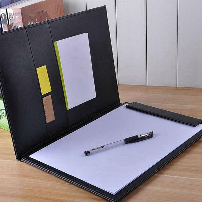 Couro do plutônio a4 escrevendo clipboard business