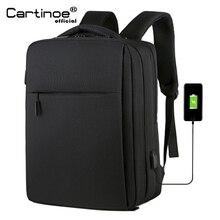 حقيبة ظهر لحمل الكمبيوتر المحمول Cartinoe مزودة بمنفذ USB مقاس 17.3/15.6 بوصة لهواتف Macbook Air/Pro حقيبة ظهر للرجال ضد السرقة حقيبة سفر رجالية