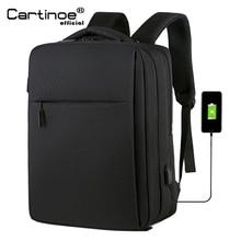 Cartinoe bolsa antirrobo para ordenador portátil para hombre, morral de viaje con carga USB de 17,3/15,6 pulgadas para Macbook Air/Pro