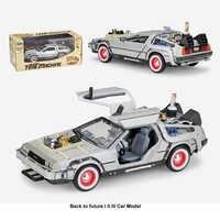 1:24 Diecast Legierung Modell Auto DMC-12 Delorean Zurück In Die Zukunft Zeit Maschine Metall Spielzeug Auto Teil I II für kid Spielzeug Geschenk Sammlung