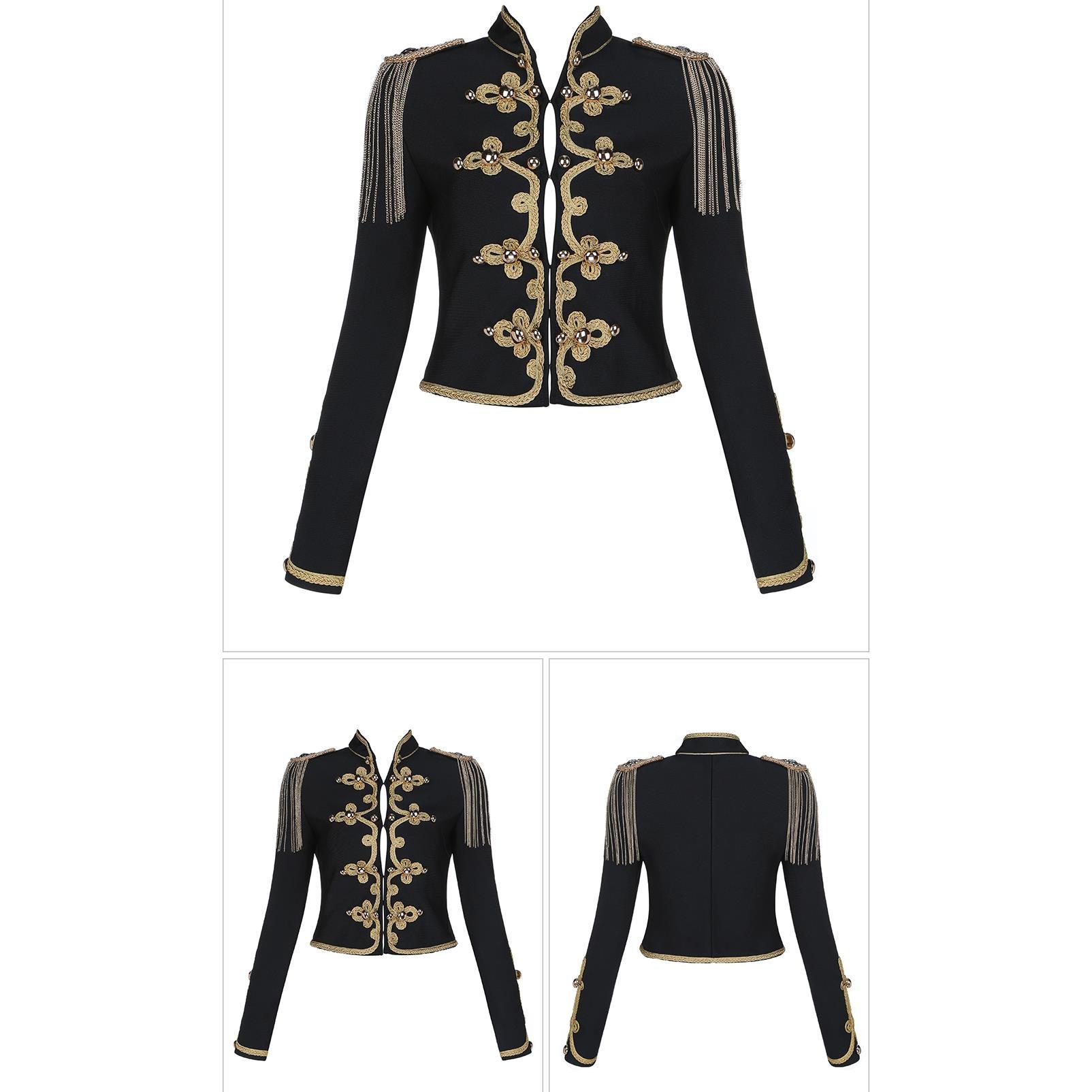 Chaqueta corta Retro mujer ropa Empire 2019 Otoño Invierno Lady Jacket Coat - 6