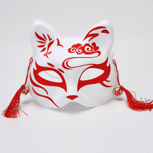 Hot Halloween Cosplay Animal Mask Anime The Light Of Fireflies Forest Natsume Fox Cat Half Face Fashion