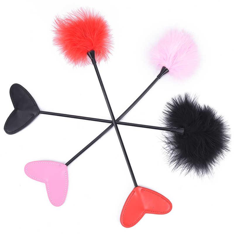 1 pièces jeux pour adultes Flirt sexe fouet jouets sexuels fétiche fessée Paddle Bondage Flogger pour Couples Sexy Knout PU cuir SM produits