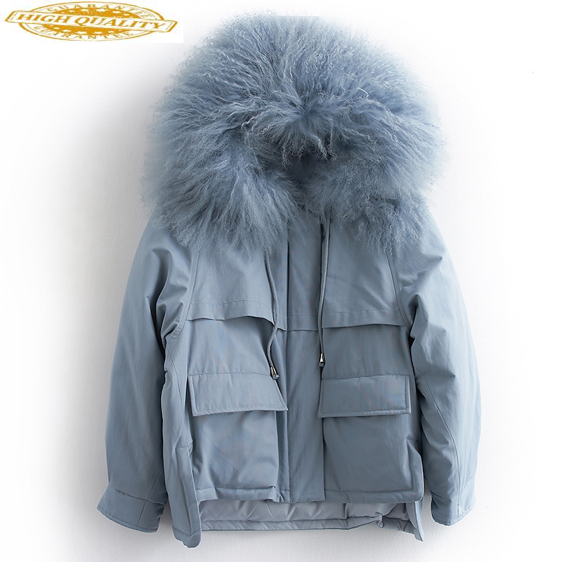 90% Duck Down Jacket Woman Hooded Korean Parka Winter Coat Women Mongolian Fur Collar Parkas 2019 Chaqueta Mujer MY1540