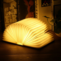 Portable USB Rechargeable LED Magnetic Foldable Wooden Book Lamp Night Light Desk Lamp Hot Sale for Home Decor Drop Ship