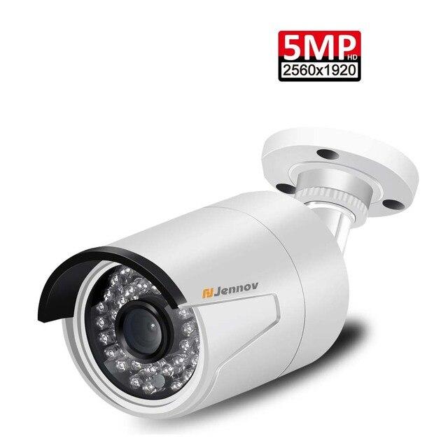5MP POE กล้อง IP P2P กลางแจ้งการเฝ้าระวังวิดีโอชุด H.265 ONVIF 2MP Home Security กล้อง IR Night APP ระยะไกลดู ipcam