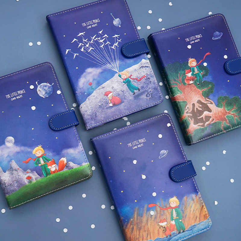 My Little Prince Blue Buckle Diary Journal Travel Diy Notebook School Kids Gift Item Colored Inside Pages