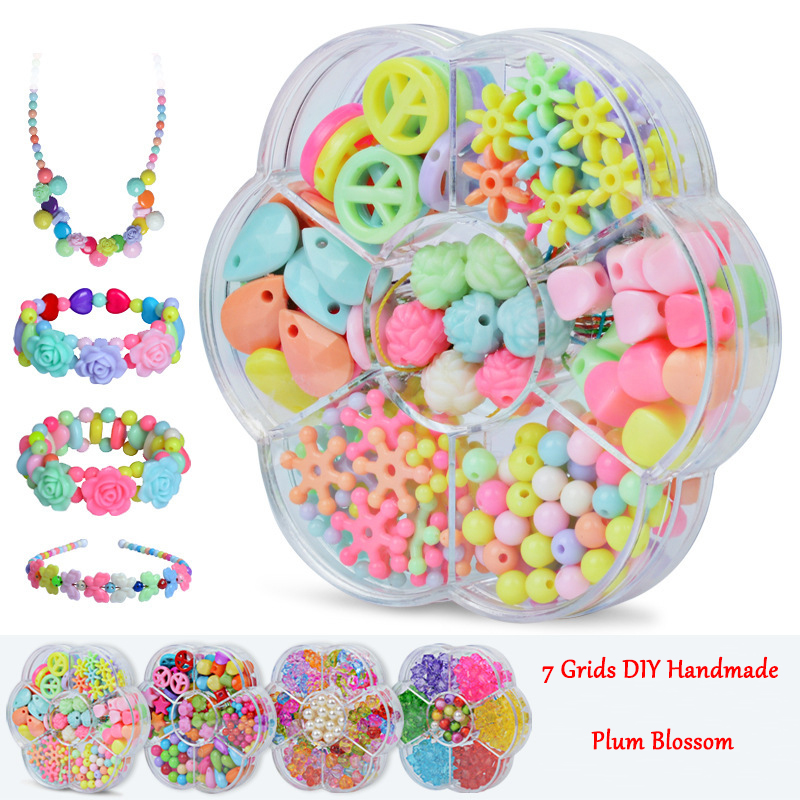 Girls Creative DIY Beads Toy With Whole Accessory Set Girls Handmade Art Craft Educational Toys For Children Gifts And Presents