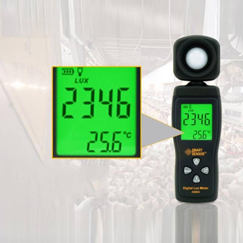 Dreamburgh Light Meter 0~200,000 LUX Digital Luxmeter Luminance Lux Fc Test Max Min Illuminometers Photometer Digital Lux Meter