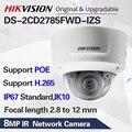 Hikvision оригинальная DS-2CD2785FWD-IZS купольная камера 8MP видеокамера POE CCTV 50 м IR диапазон IP67 IK10 H.265 + 2,8-12 мм зум