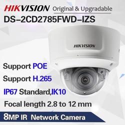 Hikvision Original DS-2CD2785FWD-IZS Dome Camera 8MP POE CCTV Camera 50m IR Range IP67 IK10 H.265+ 2.8-12mm Zoom