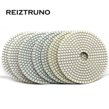 REIZTRUNO 5 inch 125mm wet diamond polishing pads for stone marble,granite,Quartz grinding tools Fast and efficient polishing