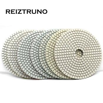 цена на REIZTRUNO 5 inch 125mm wet diamond polishing pads for stone marble,granite,Quartz grinding tools Fast and efficient polishing