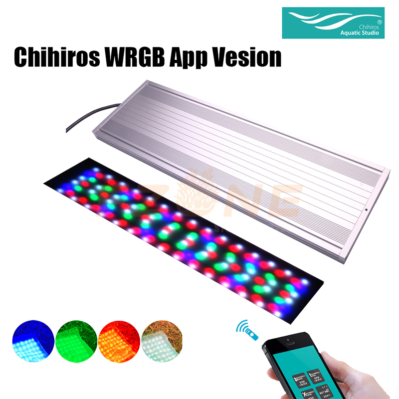 Chihiros WRGB LED Light APP Version Aquairum Lighting Aquatic Plant Light With 4-Channel Controller As Timer Sunrise Sunset