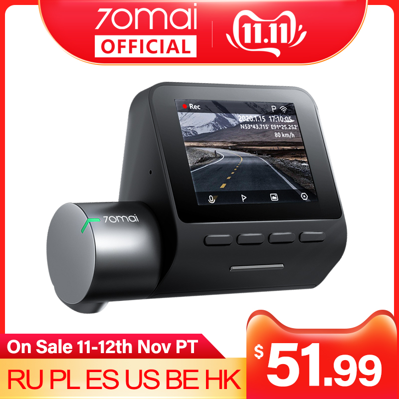 70mai Smart Dash Cam Pro 1944P Speed Coordinates GPS ADAS 70mai Pro Car Dash Camera WiFi 70mai Car DVR Voice Control 24H Parking DVR/Dash Camera  - AliExpress