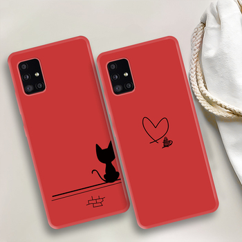 Cat Heart Milk Bottle Pattern Case for Samsung A51 A50 A30S A30 Soft Full Cover Phone Case for Galaxy A71 A70 A40 A20 A10 A20e image