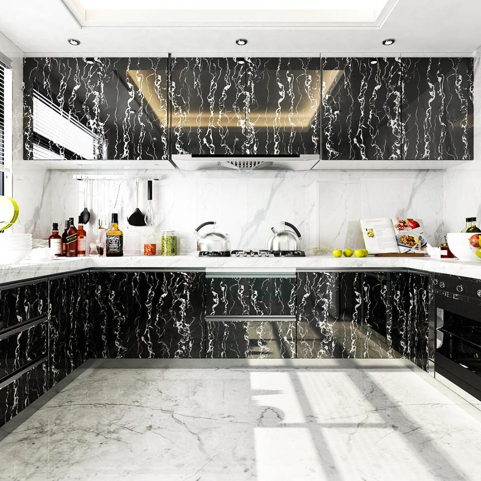 Bathroom Removable Self Adhesive Wallpaper For Kitchen Countertops Peel And Stick Cabinet Shelf Liner Vinyl Contact Paper Marble Wallpapers Aliexpress