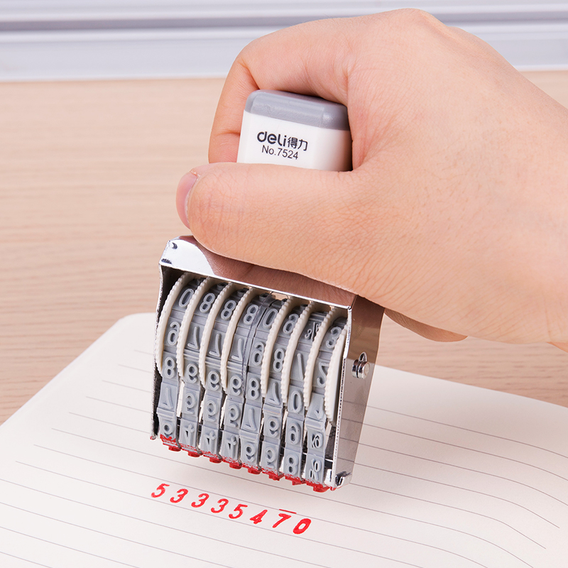 Deli 8-digit Date Seal Number Seal Adjustable Production Date Planner Stamps Bullet Journal Stamp Diary Stamp For Journal