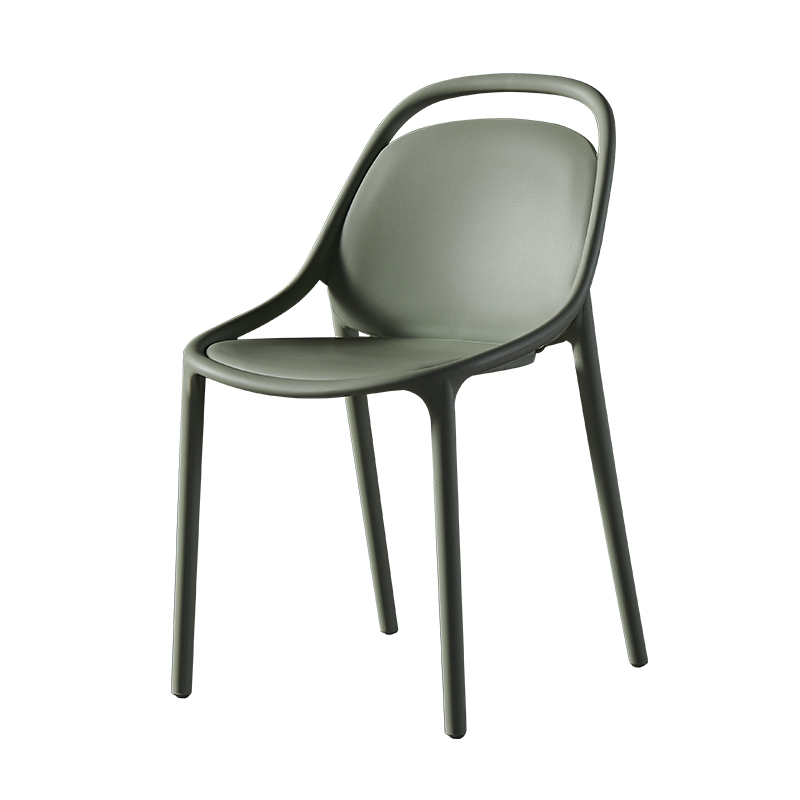 Nordic Fashion Modern Chair Simple Thick Plastic Chair Home Negotiation Desk Chair Lazy Backrest Restaurant Chair