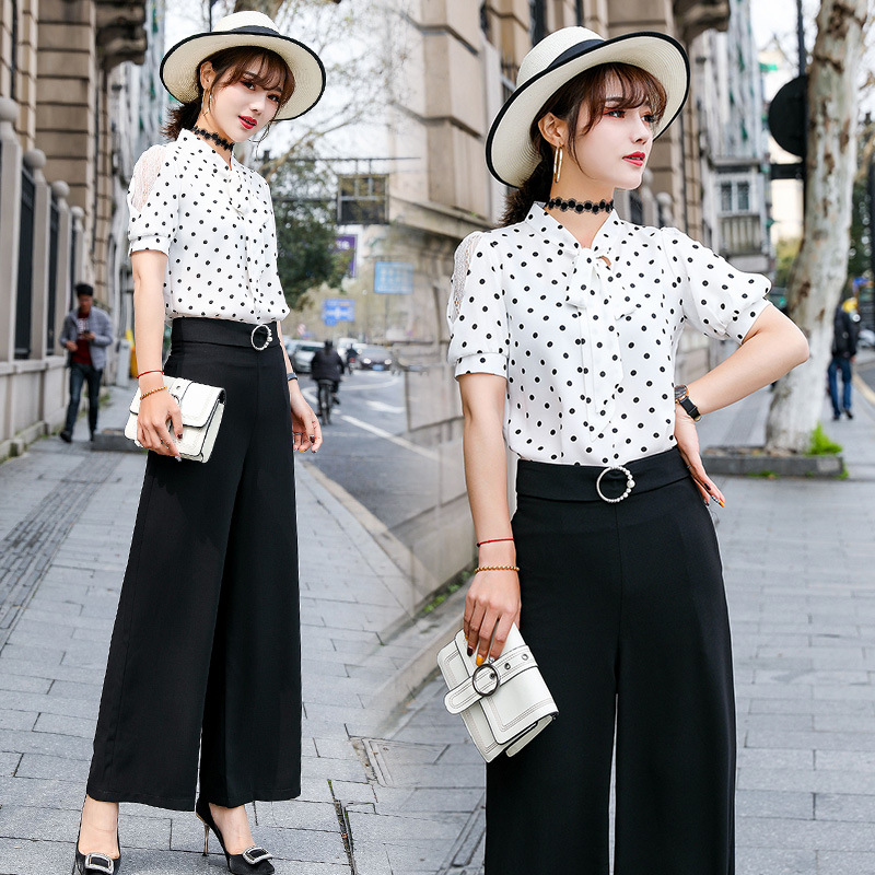 2019 Summer Fashion Loose Pants Two-Piece Set Trend Comfortable Simple Cool