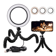 USB 5V Ring Light LED Fill Lighting 16/21cm Dimmable Live Streaming Ring Lamp for Youtobe Photography Studio Phone Video цена и фото