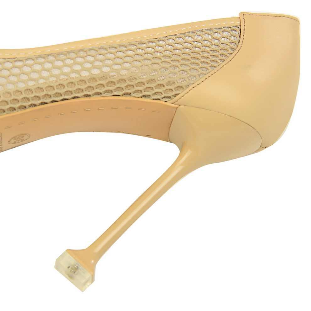 2020 Donne di Estate 10 centimetri Tacchi Alti Calzature Pompe Tacchi Promenade di Colore Rosa di San Valentino Maglia Cava Qualità Fetish Scarpins Da Sposa Rosso scarpe