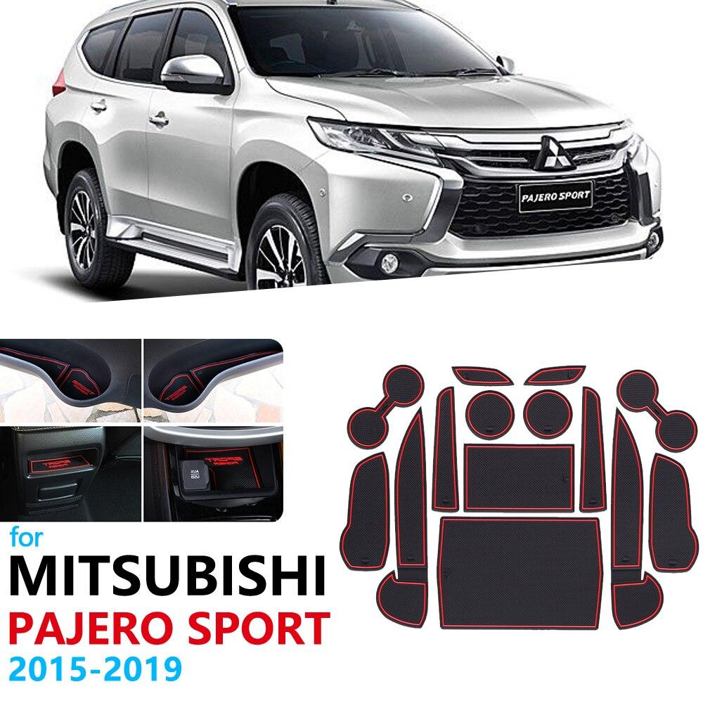 Нескользящий Резиновый коврик для ворот и чашек Mitsubishi Pajero Sport 2015 2016 2017 2018 2019 Montero Shogun