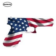 HotMeiNi – autocollant drapeau américain, étiquette Ruger en vinyle, 13cm x 7.7cm, pistolet USA, droits sur les armes à feu, 2ème modification, style de voiture