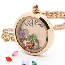 5% OFF!! 20/25/30MM Silver Round Floating Locket Stainless Steel Crystal Pendant Jewelry 11.11 Global Shopping Festival