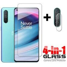 4 in 1 עבור זכוכית OnePlus Nord CE 5G מלא דבק מזג זכוכית אחת בתוספת Nord CE מסך מגן עבור OnePlus Nord CE מצלמה זכוכית