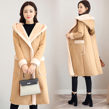 Winter Faux Fur Suede Sheared Lamb Wool Coat for Women Warm Jacket Long Plus Size Oversized Coats Hoodies Cashmere 2019 Clothing