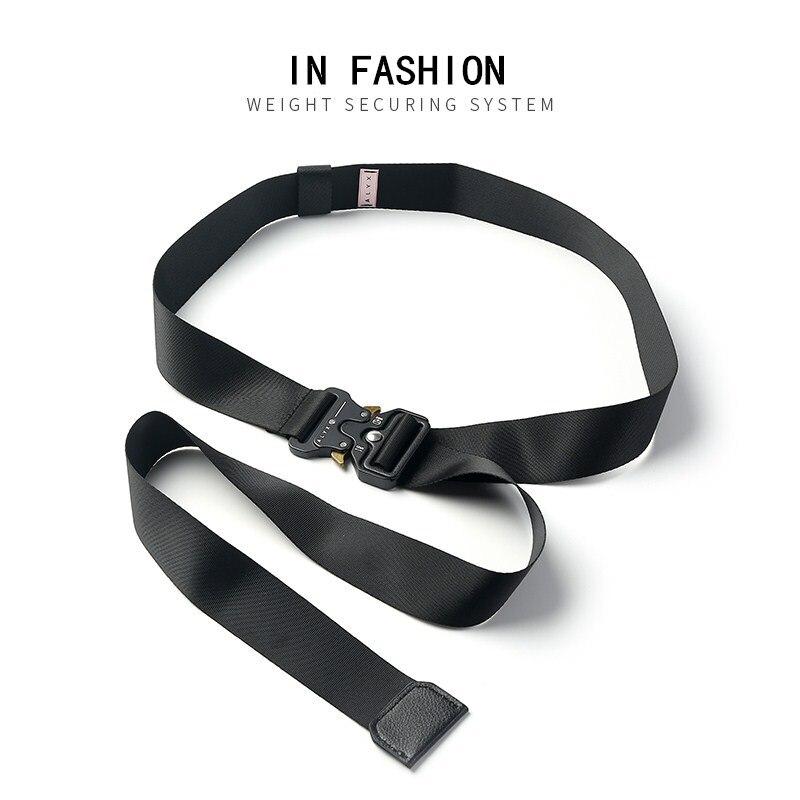 ALYX 1017 9SM Hip-Hop Metal Buckle Belt ASAP Ins Same Industrial Canvas Webbing Roller Coaster Safety ALYX Belt