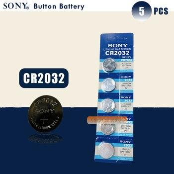 Pilas de botón SONY originales cr2032, 5 uds., 3V, batería de botón de litio para reloj con Control remoto, calculadora cr2032