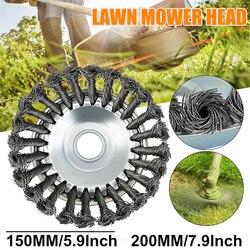 Многоразмерная стальная проволочная головка для триммера, газонокосилка, травокосилка, резак для травы, пластина для удаления пыли, 115 мм, 125...