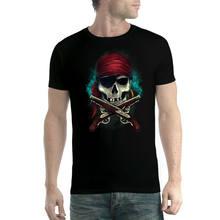 Camiseta pirata pistole cranio uomo t
