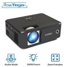 Touyinger x20 melhor marca projetor completo hd 1080p vídeo mini led 480p cinema em casa usb lcd tv 3d filme projetor