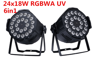 24x18 W RGBWA + UV 6in1 DMX LED Par LED de Lujo los dere dj iluminacion 6in1 rgbwa uv llevo luz de la igualdad DJ dmx luz - DISCOUNT ITEM  8 OFF Lights & Lighting