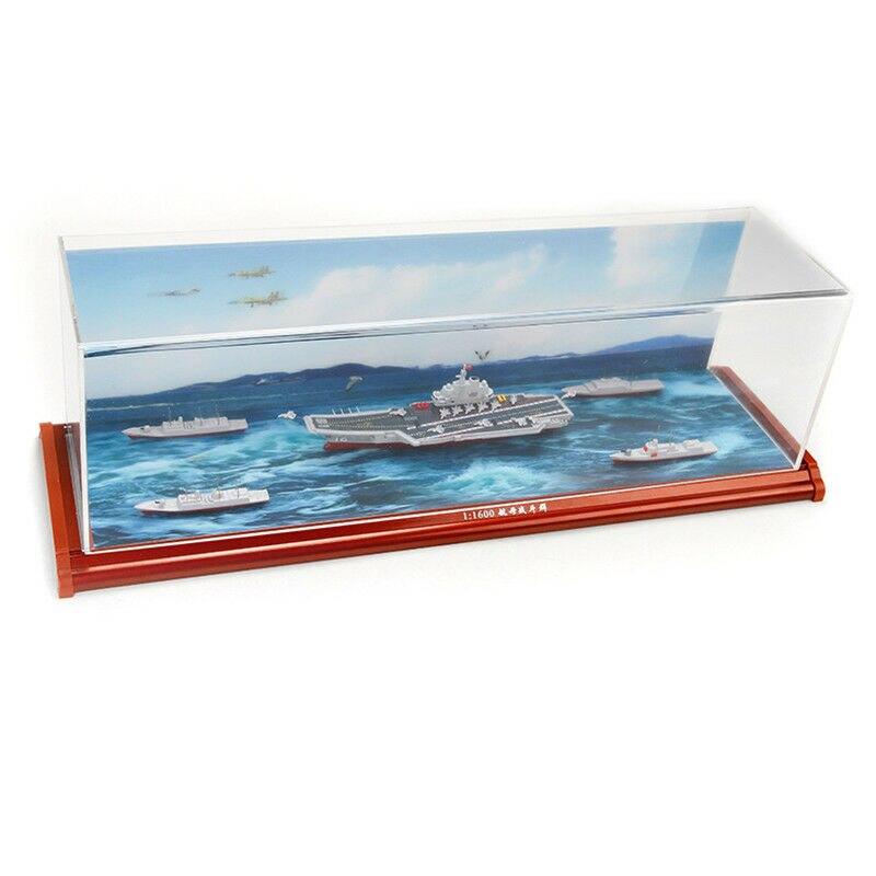Portaaviones chinos LiaoNing grupo de batalla barco 1/1600 aleación modelo de simulación - 2