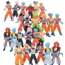 Figuras de acción de Dragon Ball Super Ultra Instinct Goku Super Saiyan Rose Goku Black Jiren Broly Brolyi, figuras de juguete de PVC de 18cm