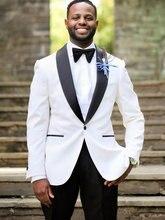Свадебные смокинги белая одежда для жениха 2020 шерсть мужские