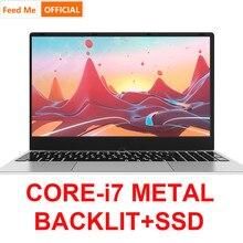 โลหะ 15.6 นิ้ว Intel i7 4500U แล็ปท็อป 16GB RAM 256GB 1080P แป้นพิมพ์ Backlit Dual Band WIFI แล็ปท็อป BT Dual Band WIFI