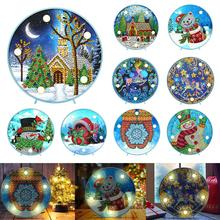 Embroidery-Lamp Painting-Light Mandala Diamond Partial VKTECH Shinny-Beads Special-Drill