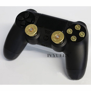 Image 5 - IVYUEEN Brass Bullet Buttons Mod Kit For Sony Dualshock 4 PS4 DS4 Pro Slim Controller Analog Thumb Sticks Cap with Action Button