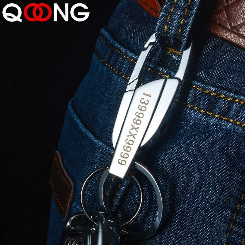 QOONG 2019 2 สีผู้ชายผู้หญิง Keyrings KeyChains สำหรับรถ Chaveiro นวัตกรรมคีย์ Chains ผู้ถือแหวนสำหรับ Man ที่ดีที่สุดของขวัญ y10