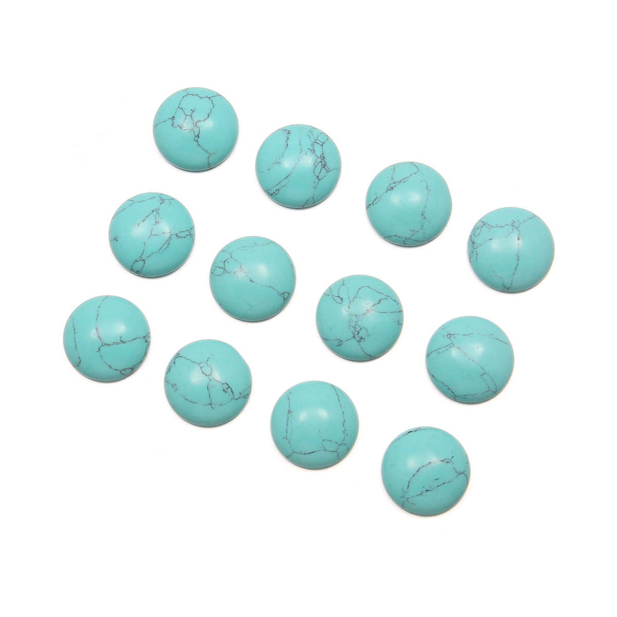 10 pçs pedras naturais azul turquesa jade pedra cabochão nenhum furo contas para fazer jóias diy anel acessórios contas espalhadas