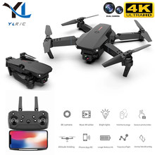 Mini zangão e88 pro 4k hd câmera dupla posicionamento visual 1080p wifi fpv zangão preservação da altura rc quadcopter