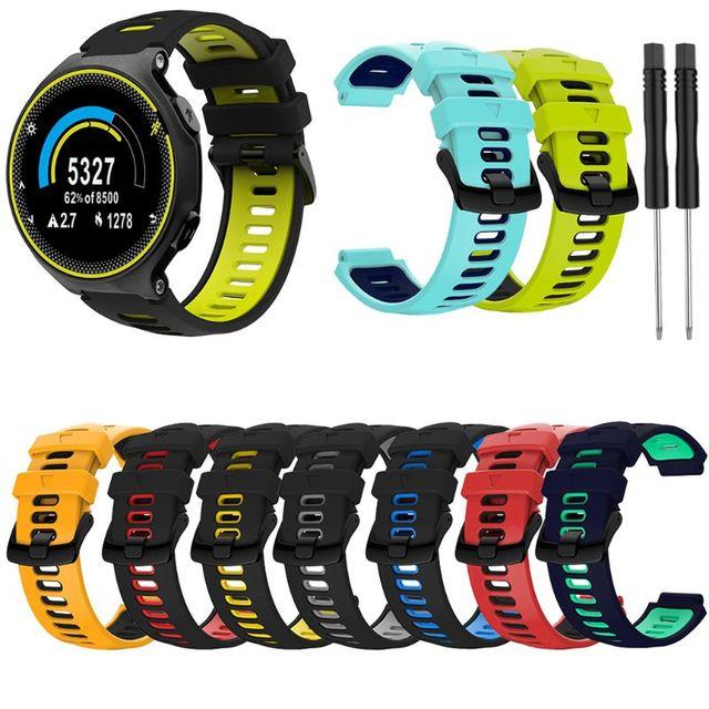 22mm opaska na rękę dla garmin forerunner 735xt/220/230/235/620/630 silikonowa bransoletka sportowa Watchband silikonowa bransoletka z paskiem wymiana Sma