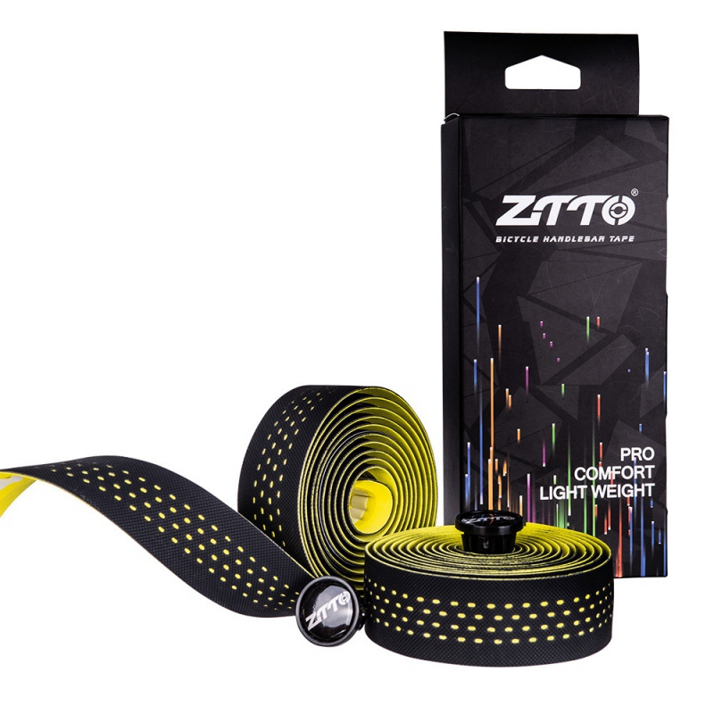 2pcs/set Soft Road Bike Bicycle Handlebar EVA PU Bar Tape Sports Handle Bar Grip Cycling Anti slip Wrap Plug Tape|Bicycle Stickers| |  - title=