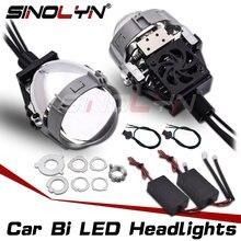 SINOLYN – lentilles de projecteur à double objectif, 2.5 pouces, pour phares H7 H4 H1 9005 9006, ampoules, accessoires de voiture, rénovation, Style bricolage
